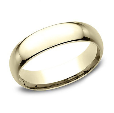High Polish Comfort Fit Men's Wedding Band