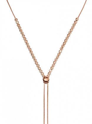 Diamond-cut Bead Tassel Necklace