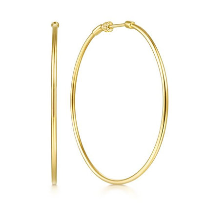 50mm Screwback Hoop Earrings