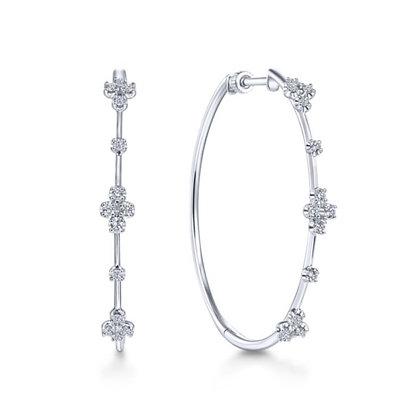 Diamond Cluster Hoops