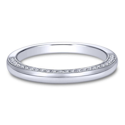 Halfway Diamond Profile Wedding Band