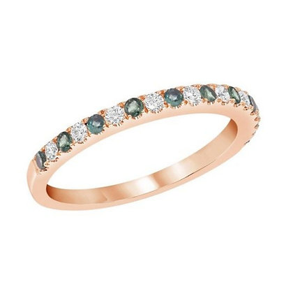 Alexandrite & Diamond Band
