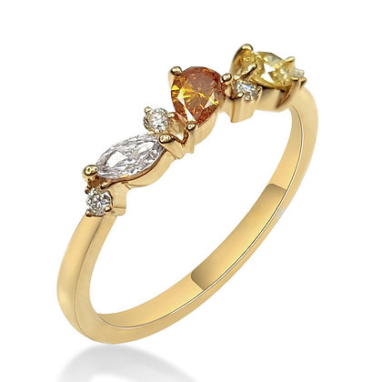 Fancy Colored Diamond Band