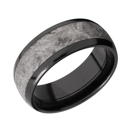 Meteorite & Zirconium Wedding Band