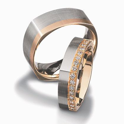 2-Tone Men's Wedding Band