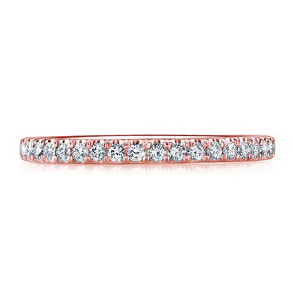 U Prong-set Micro Pavé Wedding Band