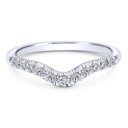 Curved French Pavé Wedding Band