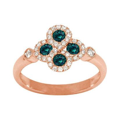 Alexandrite & Diamond Infinity Ring