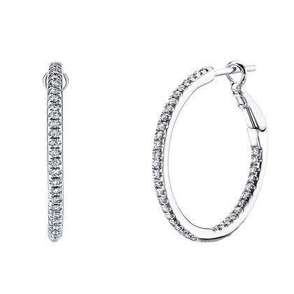 Diamond Inside-Out Hoop Earrings