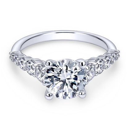 Graduated Diamond Criss-Cross Gallery Engagement Ring