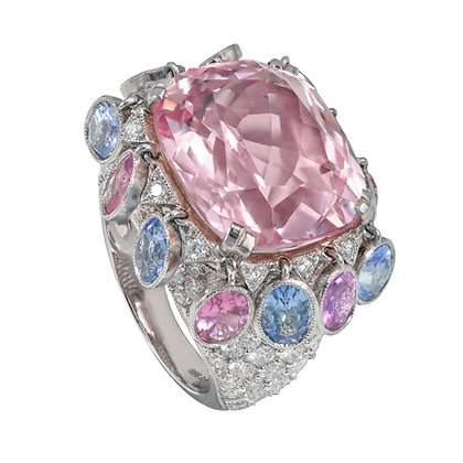 "Pink Sapphire ""Dancer"" Ring"