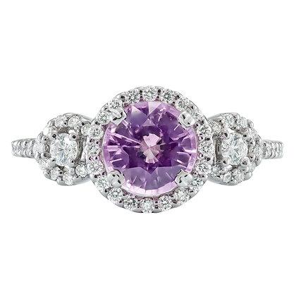 Spinel & Diamond 3-Stone Ring