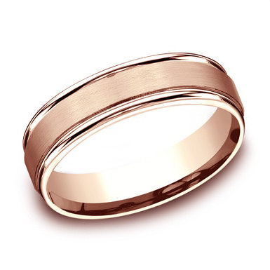 Satin Center Men's Wedding Band
