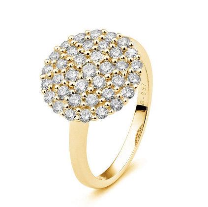 Diamond Pavé Disc Ring
