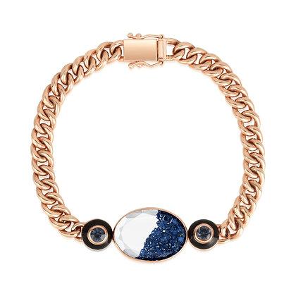 Sapphire & Blue Spinel Black Enamel Shaker Bracelet