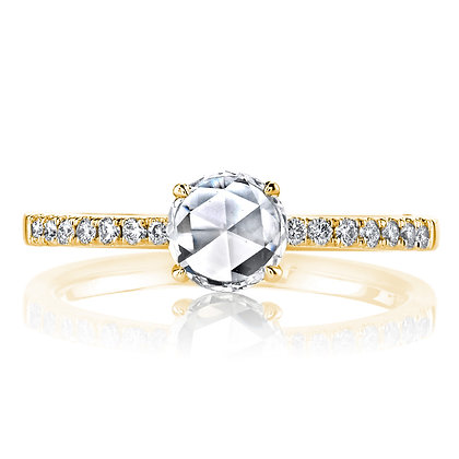 Rose-cut Diamond Engagement Ring