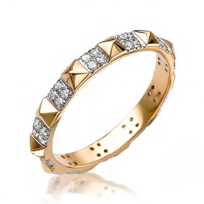 Pyramid Diamond Ring