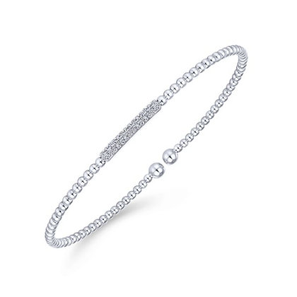 2-Row Diamond Bubble Bangle