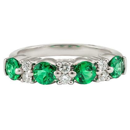 Emerald & Diamond Alternating Band
