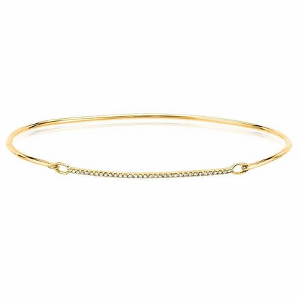 Single-row Diamond Bar Bracelet