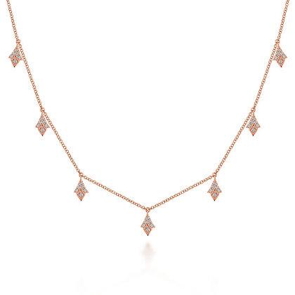 Diamond-Shaped Dangle Necklace