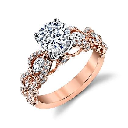 7-Stone Semi-Mount Engagement Ring