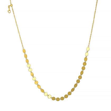 Alternating Shape Disc Necklace