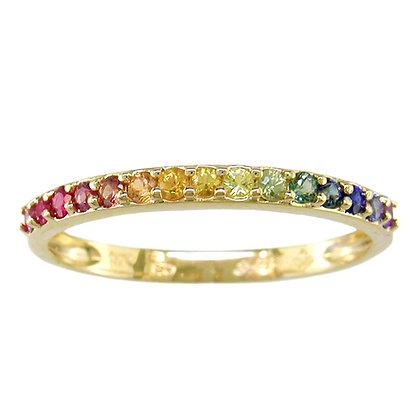 Rainbow Sapphire Halfway Band