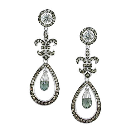 Fleur-de-lis Drop Earrings