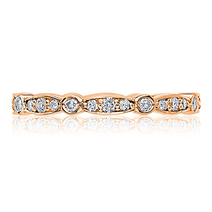 Round & Marquise Women's Wedding Band