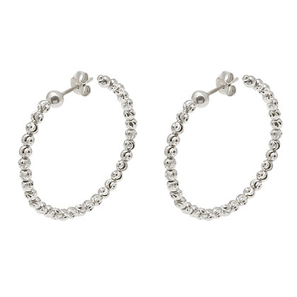 Diamond-Cut Bead Hoops