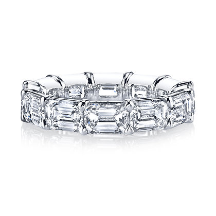 Emerald-cut East-West Set Diamond Band