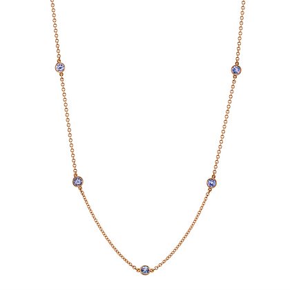 "Tanzanite ""Color-by-the-Yard"" Necklace"