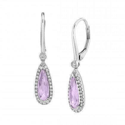 Amethyst Pearshape Dangle Earrings