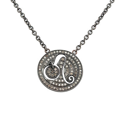 Leo Zodiac Disc Necklace