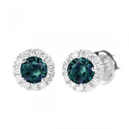 Alexandrite & Diamond Studs