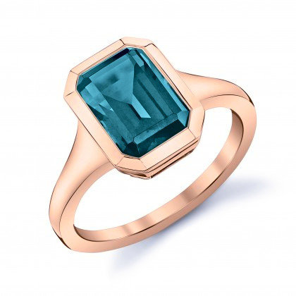 London Blue Topaz Bezel Ring