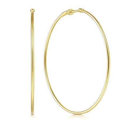 60mm Screwback Hoop Earrings