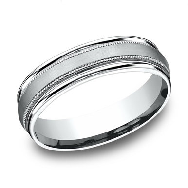 Double Milgrain Men's Wedding Band