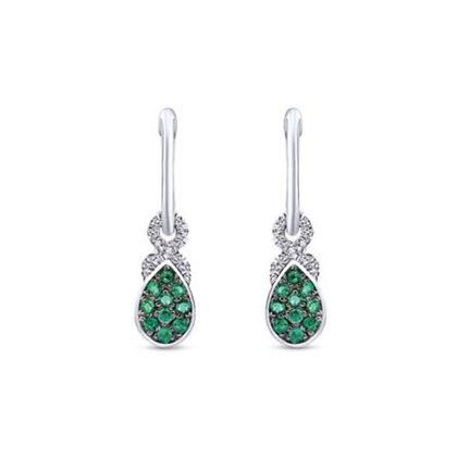 Emerald & Diamond Drop Earrings
