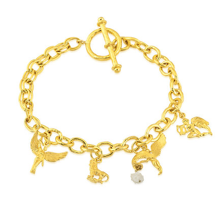 Angel & Lion Charm Bracelet
