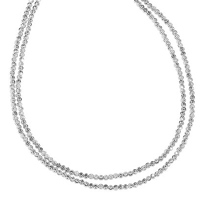 Diamond-Cut Bead Necklace