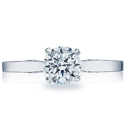 Crescent Profile Engagement Ring