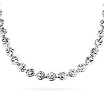 Large Diamond-Cut Bead Necklace