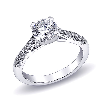 Round 4-Prong Engagement Ring