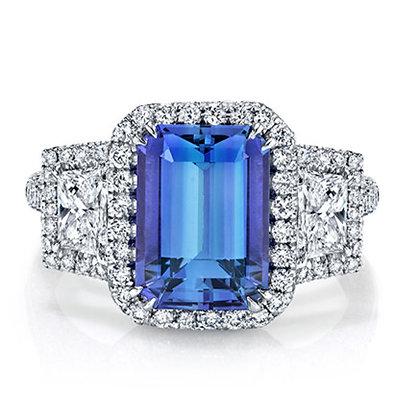 Tanzanite & Diamond 3-Stone Ring