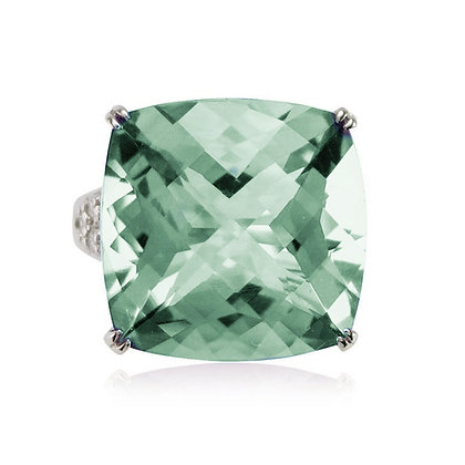 Prasiolite Split Shank Ring