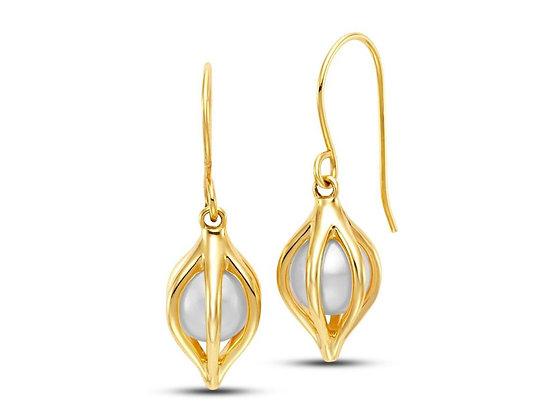 Pearl Cage Earrings