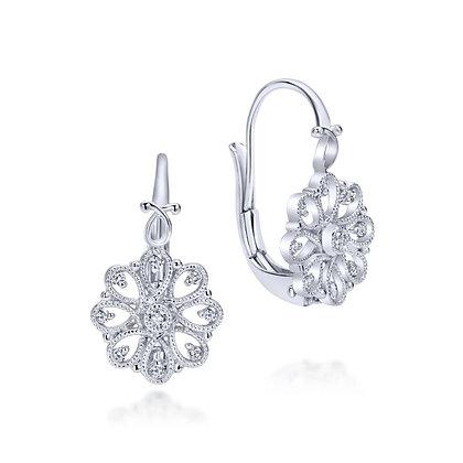 "White Sapphire ""Vintage"" Style Earrings"