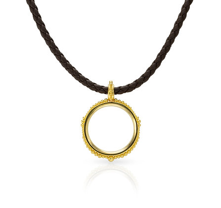 Open Circle Pendant with Granulation